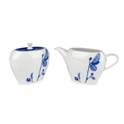 Mikasa® True Blue Sugar and Creamer (Set of 2)