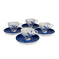 Mikasa® True Blue 3.5-ounce Espresso Cups and Saucers (Set of 8)