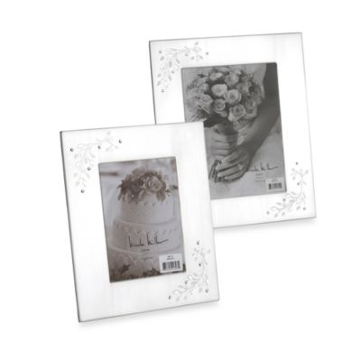 8-Inch x 10-Inch Silverplated Shimmer Frame