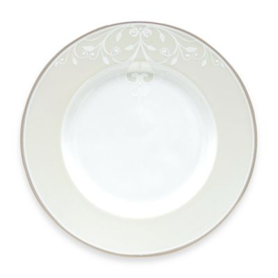 Striped White Dinnerware Plates