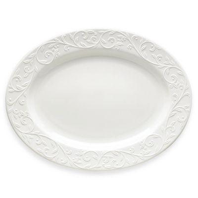 Lenox® Opal Innocence™ Carved 16-Inch Oval Platter