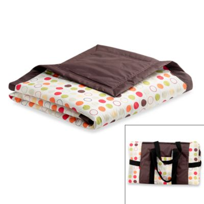 Tuffo Water-Resistant Outdoor Blanket in Brown/Multi