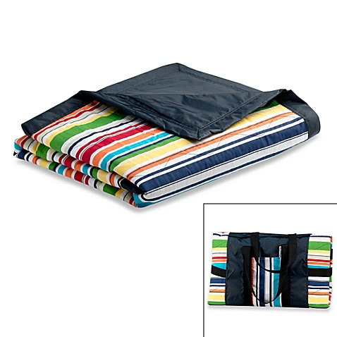 Tuffo Water-Resistant Outdoor Blanket in Multi Stripe