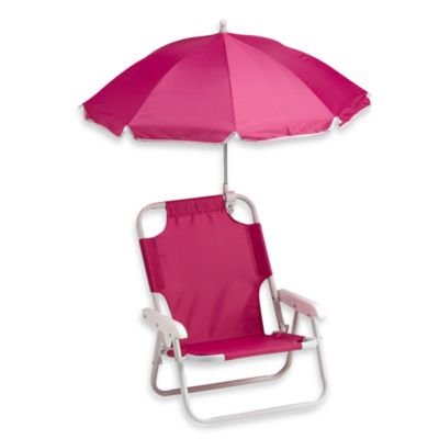 W.C. Redmon Baby Beach Chair with Umbrella in Pink