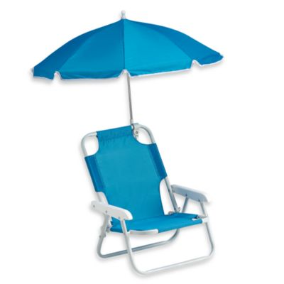 Baby Beach Chair with Umbrella in Blue