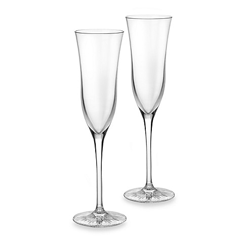 Clearly Waterford® 4-Ounce Flutes (Set of 2)