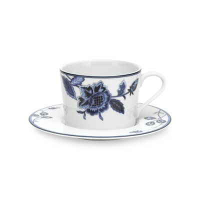 Mikasa® Indigo Bloom 8-Ounce Teacup & Saucer