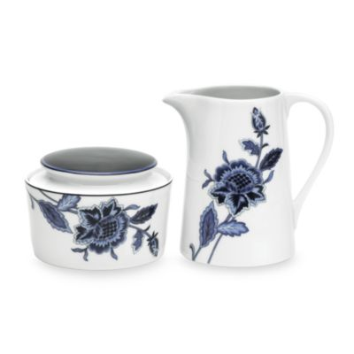 Mikasa® Indigo Covered Sugar Bowl & Creamer
