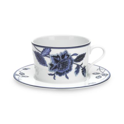 Mikasa® Indigo Bloom 12 1/2-Ounce Cappuccino Cup & Saucer Set