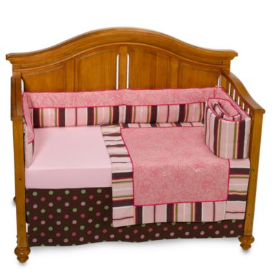 Bananafish® 4-Piece Crib Bedding Set in Raspberry Truffle
