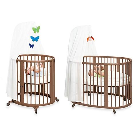 Stokke sleepi walnut crib system buybuy baby for Stokke baby furniture