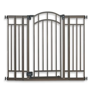 Summer Infant Stylish & Secure Extra Tall Decorative Bronze Walk-Through Gate