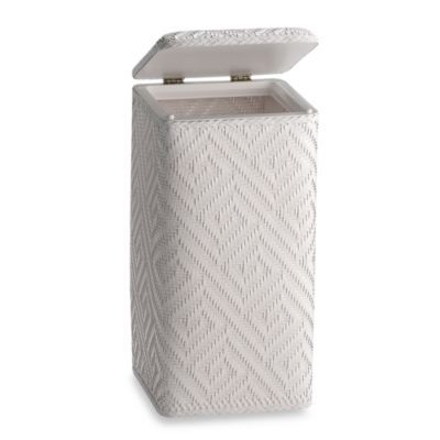 Athena Apartment Upright Hamper in White