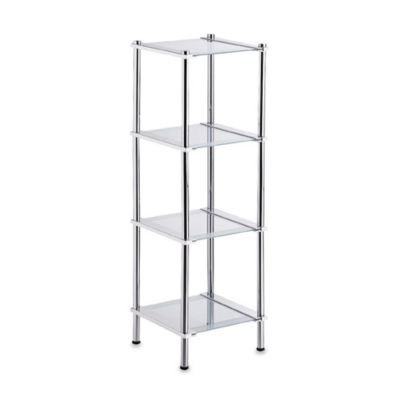 Contas Glass Four Shelf Tower