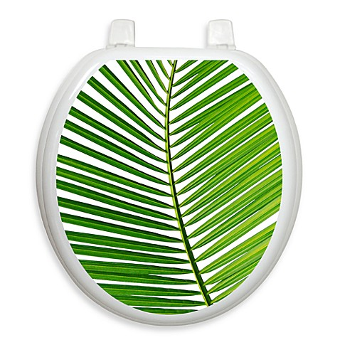 Toilet Tattoos® Palm Frond Round Decorative Applique