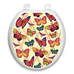 Toilet Tattoos® Butterflies-a-Flutter Round Decorative Applique