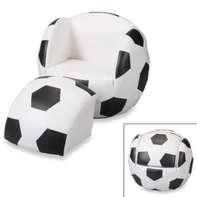 Gift Mark Soccer Chair & Ottoman Set