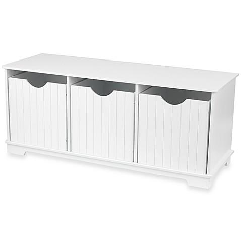 Kidkraft 174 Nantucket White Storage Bench Bed Bath Amp Beyond