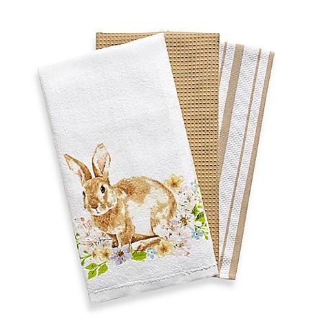 Spring Garden Kitchen Towels Set Of 3 Bed Bath Amp Beyond