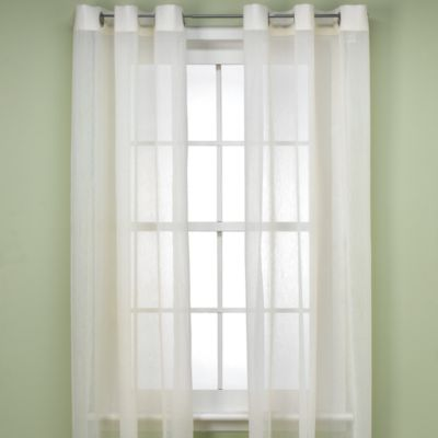 Anya Crushed Voile 84-Inch Window Sheer with Grommets in Ivory