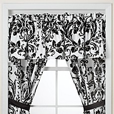 Rosewood Black and White Window Valance by Nicole Miller