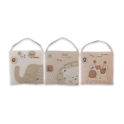 Nature's Purest™ Sleepy Safari 3-Piece Wall Hanging Set