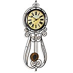 Sterling & Noble Wrought Iron 32-Inch Regulator Clock
