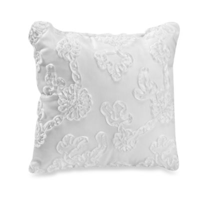 Little Diva White Ribbon Decorative Pillow by Glenna Jean