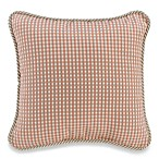 Glenna Jean Madison Square Toss Pillow in Pink/Tan