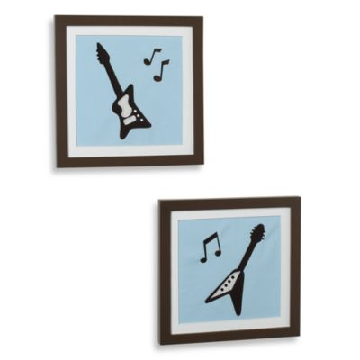 Lambs & Ivy® Rock N' Roll Wall Art (Set of 2)