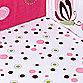 Lambs & Ivy® Raspberry Swirl Fitted Crib Sheet