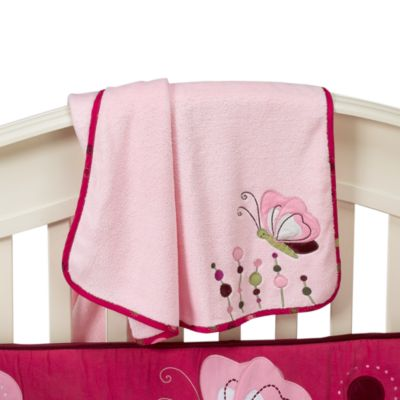 Lambs & Ivy® Raspberry Swirl Plush Blanket