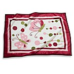 Lambs & Ivy® Raspberry Swirl High Pile Blanket
