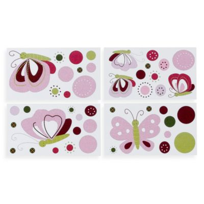 Lambs & Ivy® Raspberry Swirl Wall Decals (Set of 4)