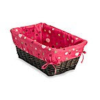 Lambs & Ivy® Raspberry Swirl Basket and Liner