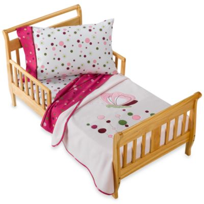 Lambs & Ivy® Raspberry Swirl 4-Piece Toddler Set