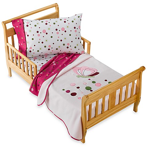 Lambs Ivy Raspberry Swirl 4 Piece Toddler Set And Accessories Bed Bath Beyond