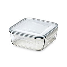 Lock N-Foot Lid Square 88.4-Ounce Storage Container