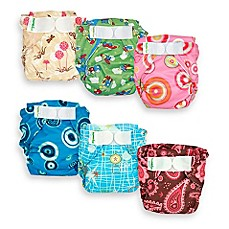 Bumkins® All-In-One Cloth Pink Paisley Diaper