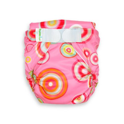 Bumkins® All-in-One Size Medium Cloth Diaper in Pink Fizz