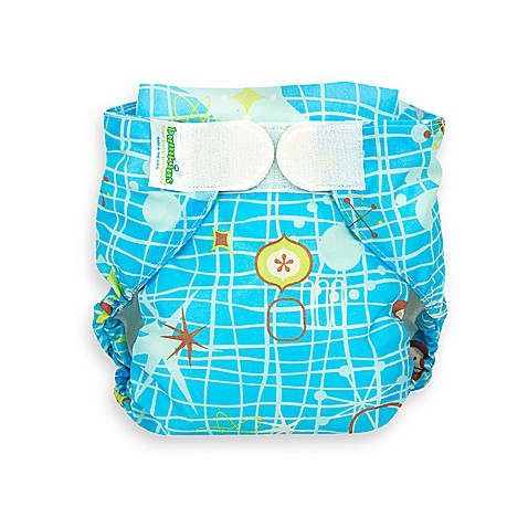 Bumkins® All-in-One Large Cloth Diaper in Blue Retro