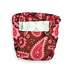 Bumkins® All-in-One Medium Cloth Pink Paisley Diaper