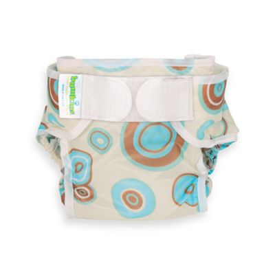 Bumkins® Waterproof Large Diaper Cover in Blue Circles