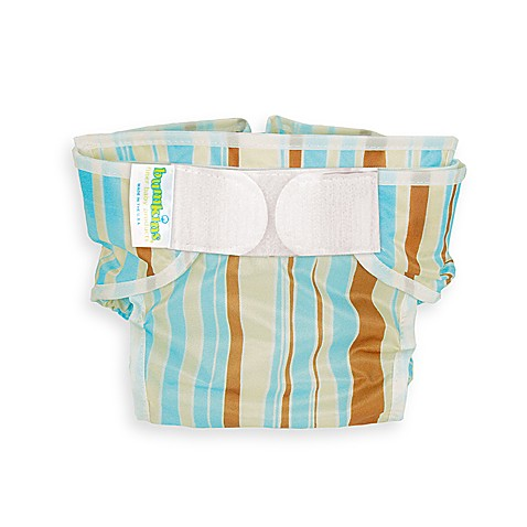 Bumkins® Waterproof Large Diaper Cover in Blue Stripes