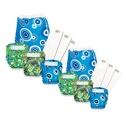 Bumkins® All-In-One Cloth Diapers and Microfiber Inserts 3-Pack Set