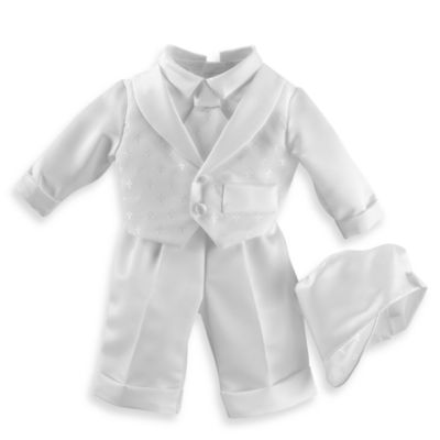 Christening > Boy's Christening Suit with Long Pants by Lauren Madison in Sizes 0 - 3 Months