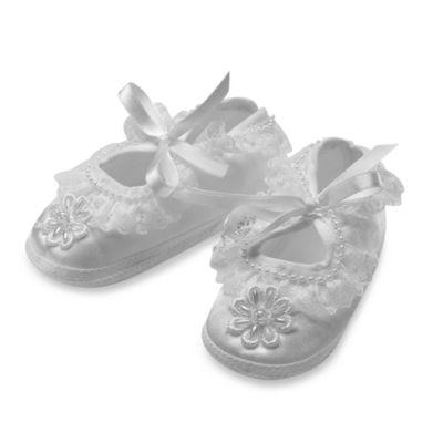 Christening > Girl's Christening Ballet Slippers by Lauren Madisonin Large