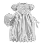 Girl's Christening Gown with Cross Embroidery