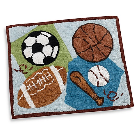 CoCaLo Baby® Sports Fan Decorative Rug