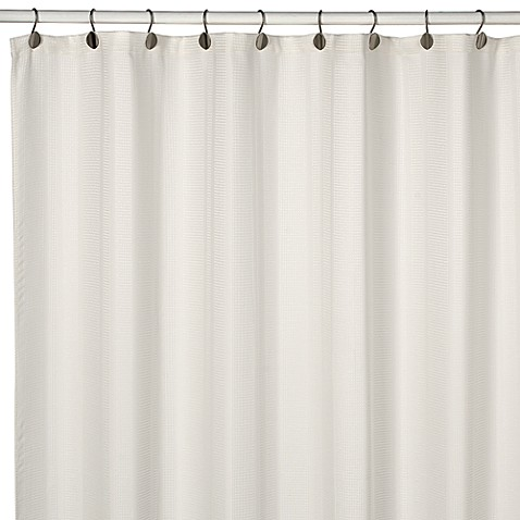 Westerly Ivory 72-Inch x 72-Inch Fabric Shower Curtain